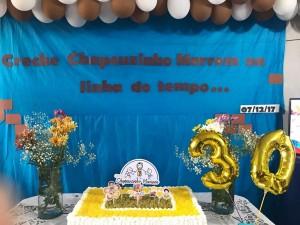 A foto do bolo do 7º aniversário